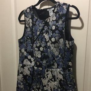H&M tapestry flowered sleeveless tank dress